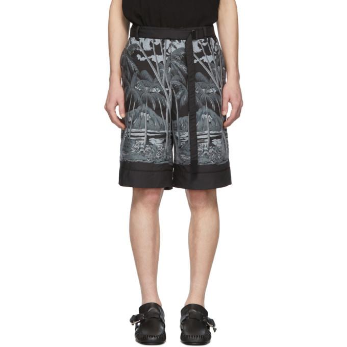 Sacai Black Sun Surf Edition Diamond Head Shorts
