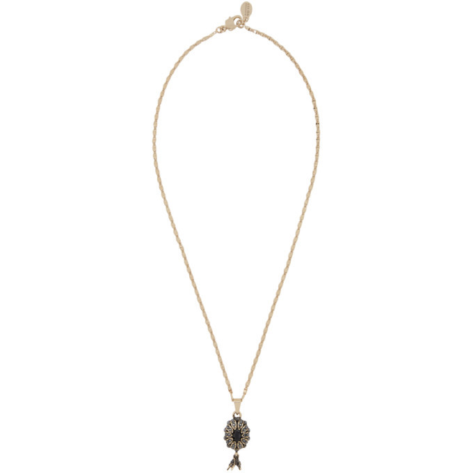 Photo: Alexander McQueen Gold Pearl Necklace