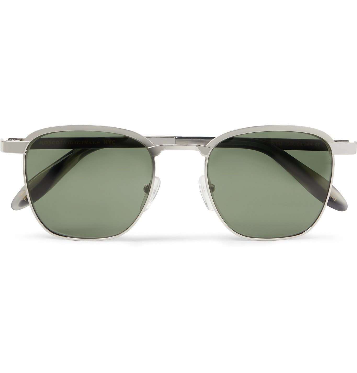 Photo: Moscot - Mish Square-Frame Silver-Tone Sunglasses - Silver