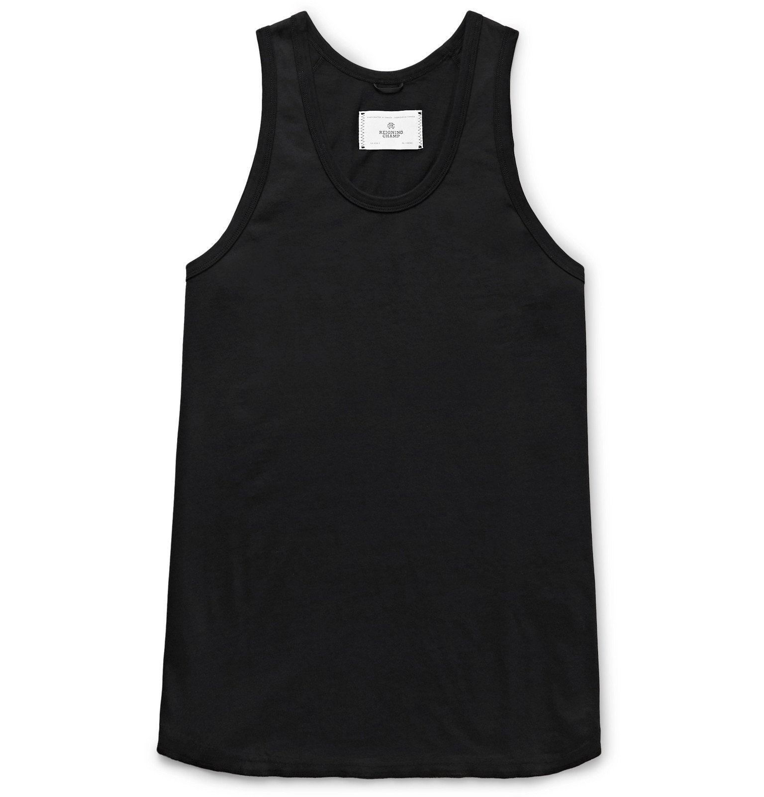 Photo: Reigning Champ - Pima Cotton-Jersey Tank Top - Black