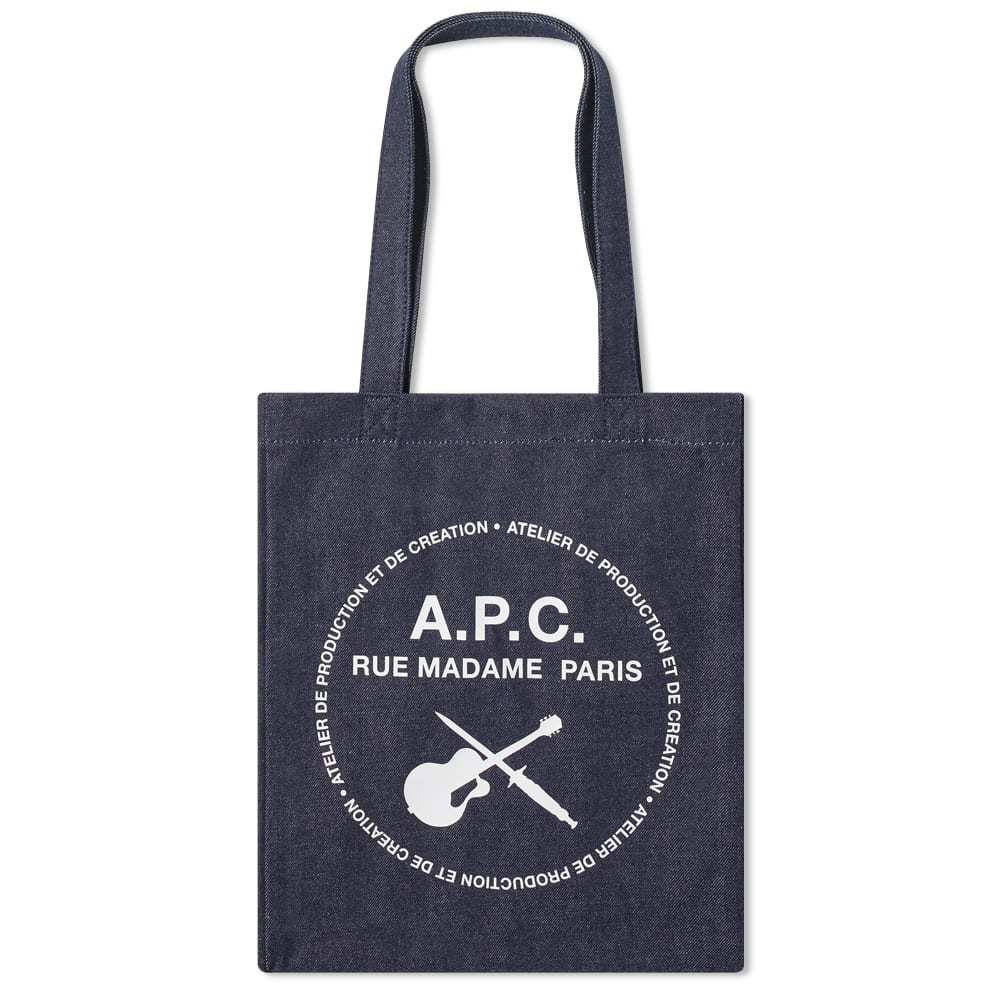 Photo: A.P.C. Guitar Logo Denim Tote Bag