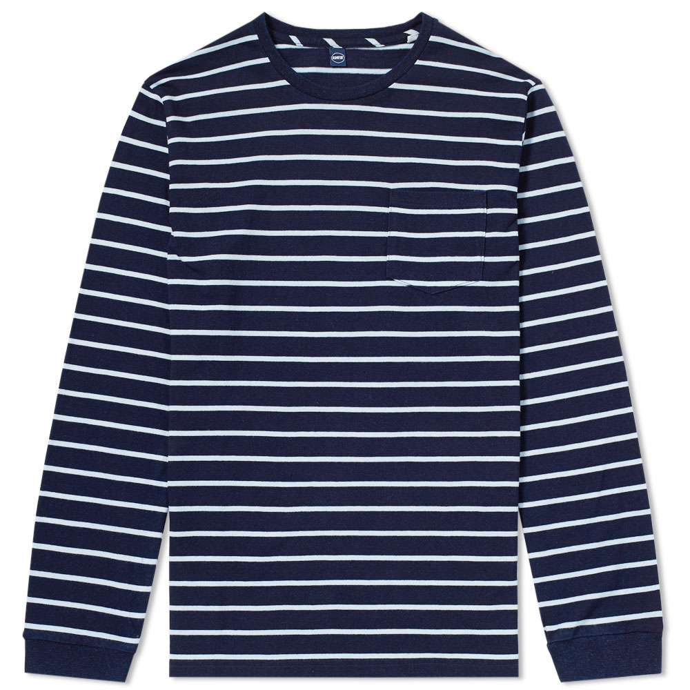 Photo: Edwin Long Sleeve Stripe Pocket Tee