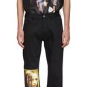 Raf Simons Black Christiane F. Wet Hair Patch Regular Jeans