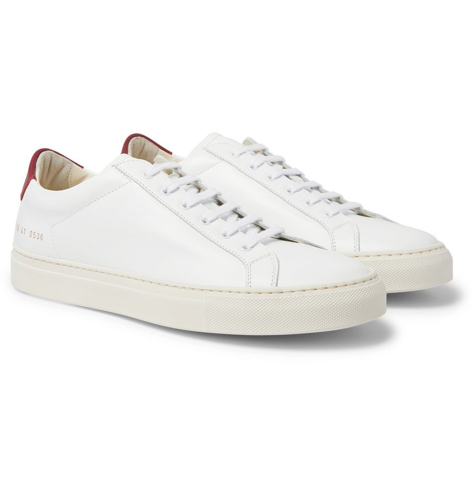 Common Projects - Achilles Retro Leather Sneakers - White