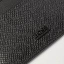 HUGO BOSS - Pebble-Grain Leather Cardholder - Black