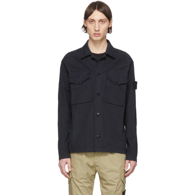 Photo: Stone Island Navy Button Up Jacket