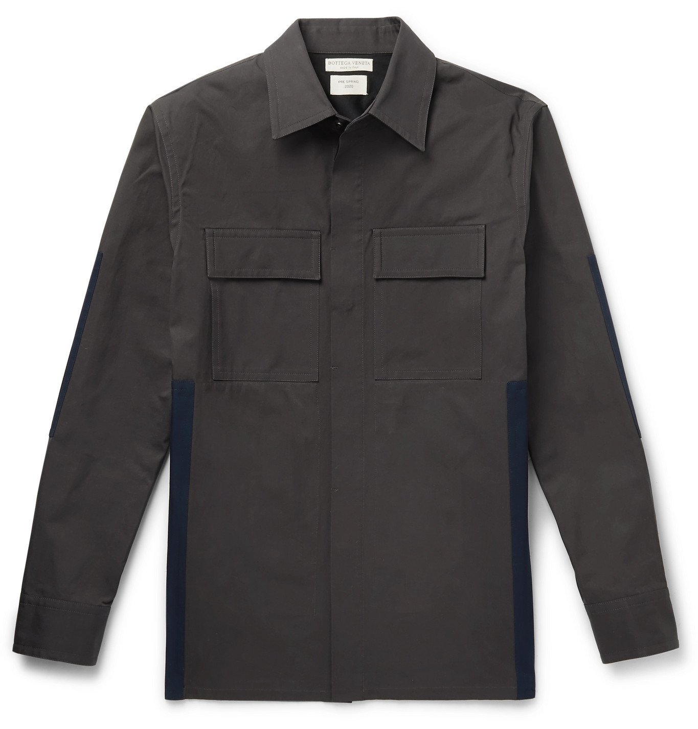 Photo: Bottega Veneta - Panelled Cotton Overshirt - Gray