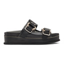 3.1 Phillip Lim Black Freida Double Buckle Platform Sandals