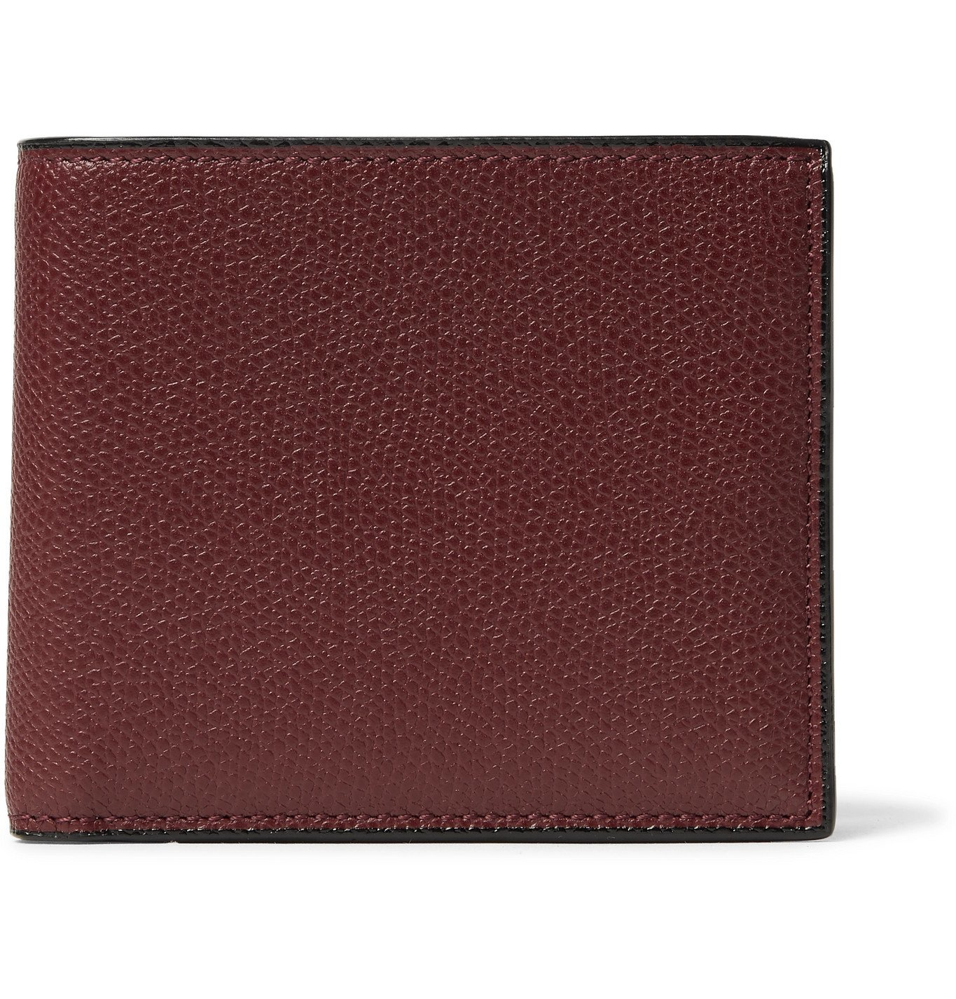 Photo: Valextra - Pebble-Grain Leather Billfold Wallet - Burgundy