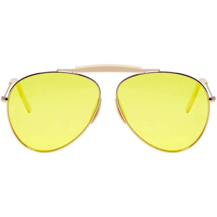Photo: Acne Studios Gold and Yellow Howard Sunglasses