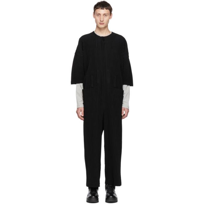 Photo: Homme Plisse Issey Miyake Black Pleats 2 Jumpsuit