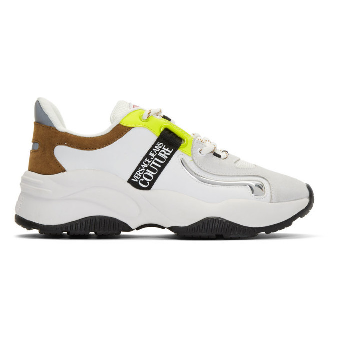 Versace Jeans Couture White Monster Sole Sneakers