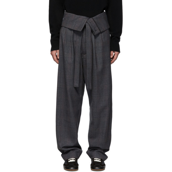 Photo: Loewe Grey Belted Overall Trousers