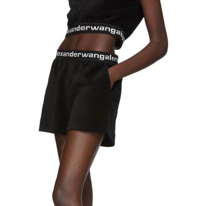 alexanderwang.t Black Corduroy Logo Shorts