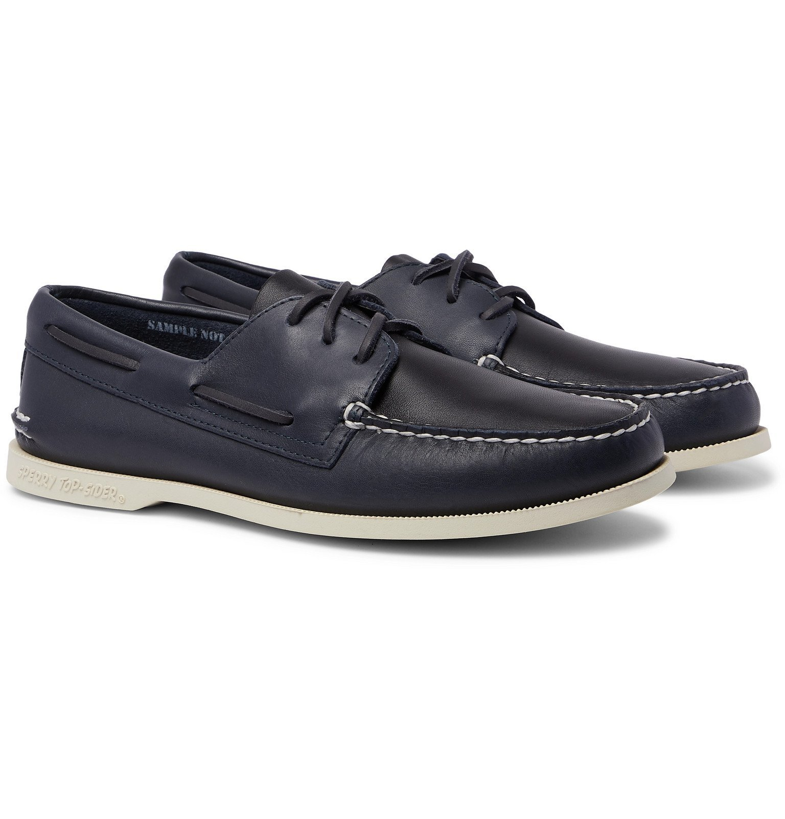 Photo: Sperry - Authentic Original Leather Boat Shoes - Blue