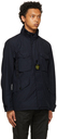 Stone Island Navy Naslan Light Watro Field Coat