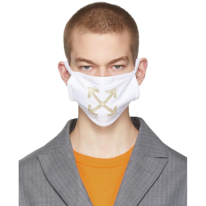 Photo: Off-White White Arrows Face Mask