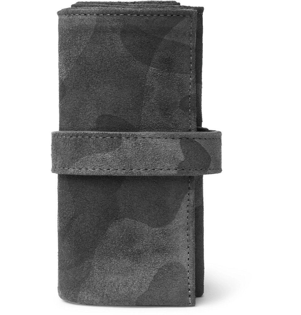 Photo: Bamford Watch Department - Camouflage-Print Suede Watch Roll - Black