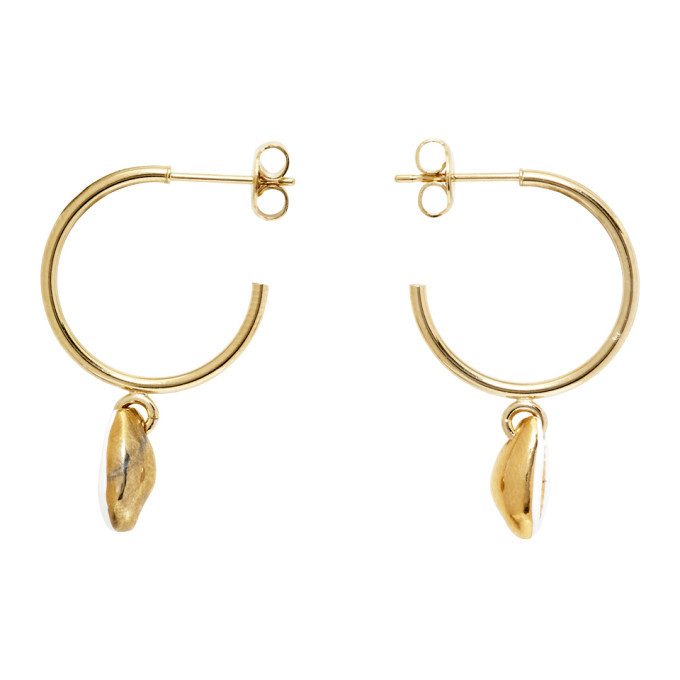 Photo: Isabel Marant White and Gold New Amer Earrings