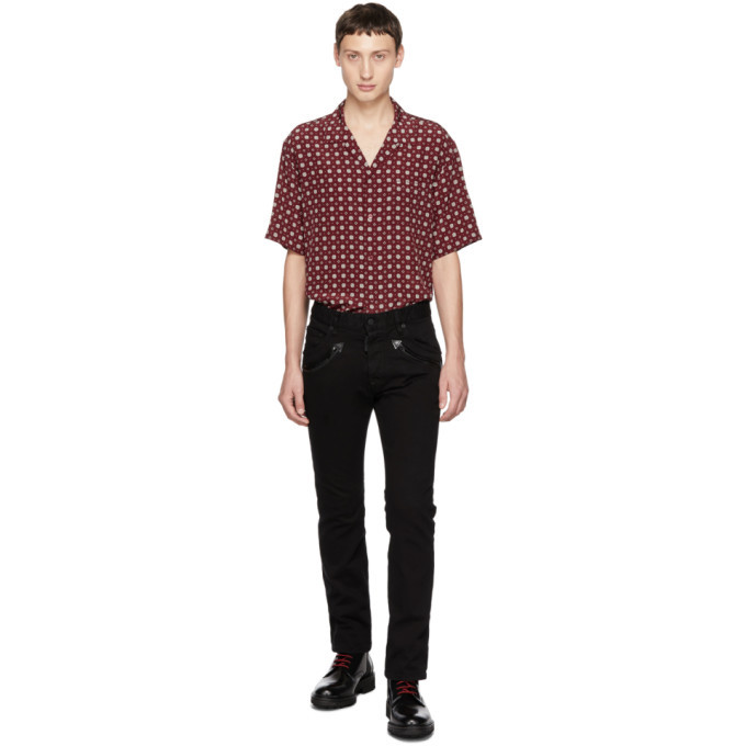 Photo: Dsquared2 Black Bull Cropped Flare Jeans