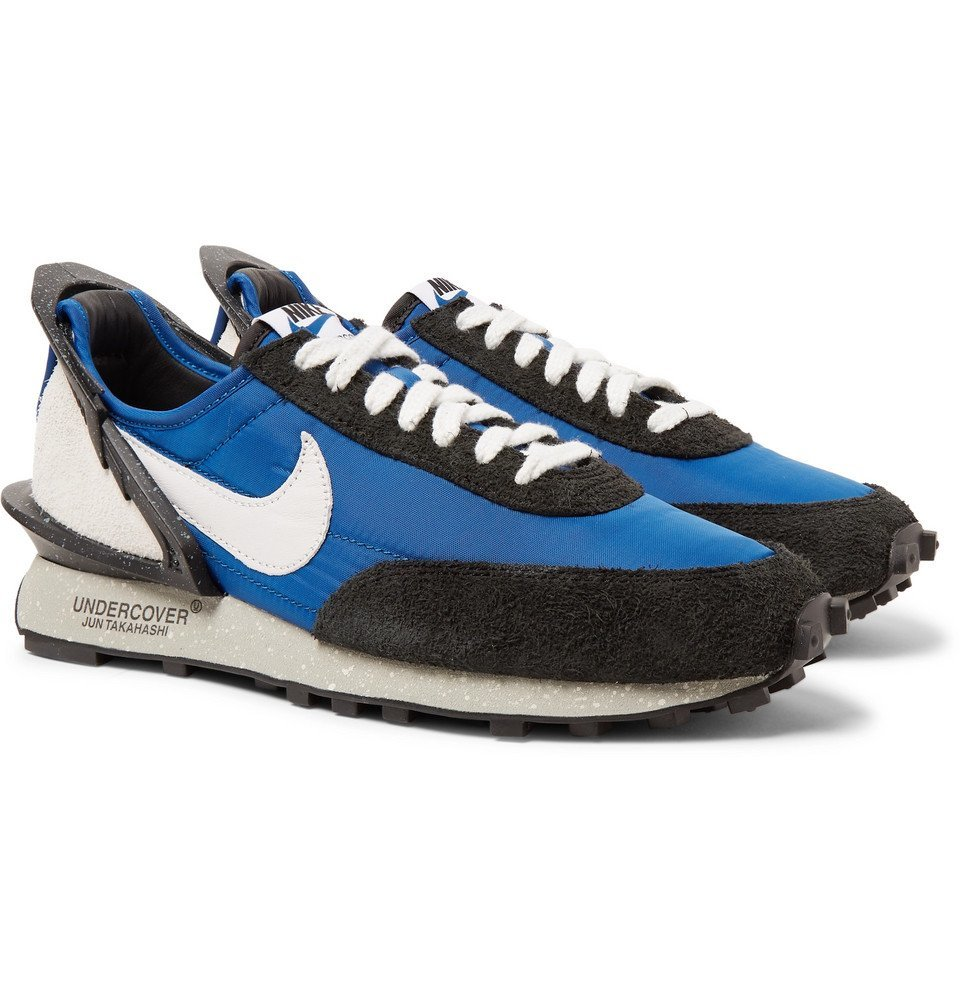 Photo: Nike - Undercover Daybreak Canvas, Suede, and Leather Sneakers - Blue