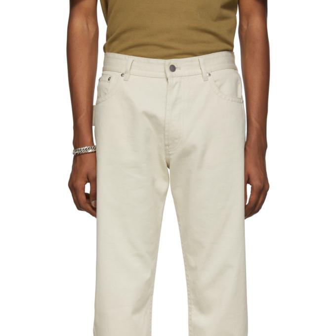 Bottega Veneta Off-White Workwear Jeans
