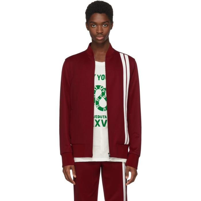Photo: Valentino Red and White Striped Track Jacket
