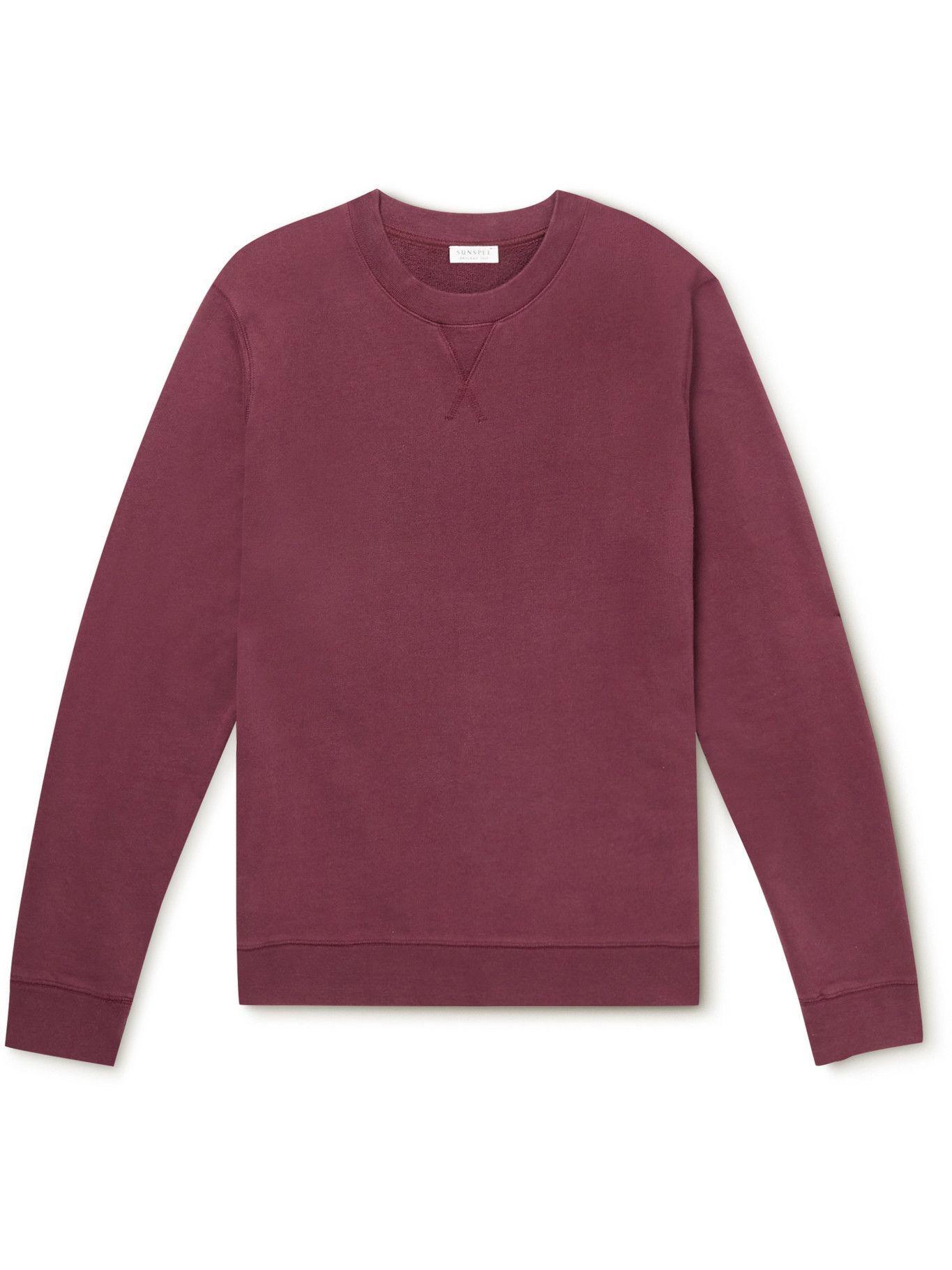 Photo: SUNSPEL - Cotton-Jersey Sweatshirt - Red