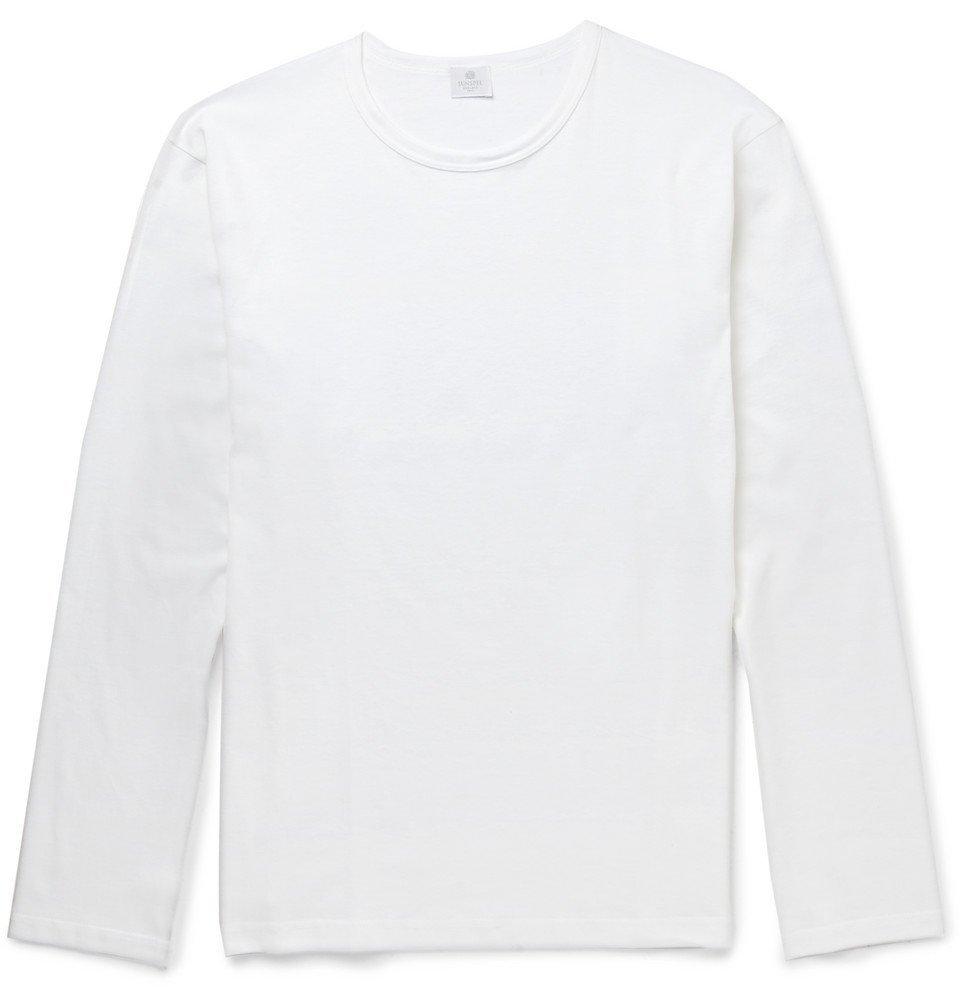 Sunspel - Long-Sleeved Cotton T-Shirt - Men - White