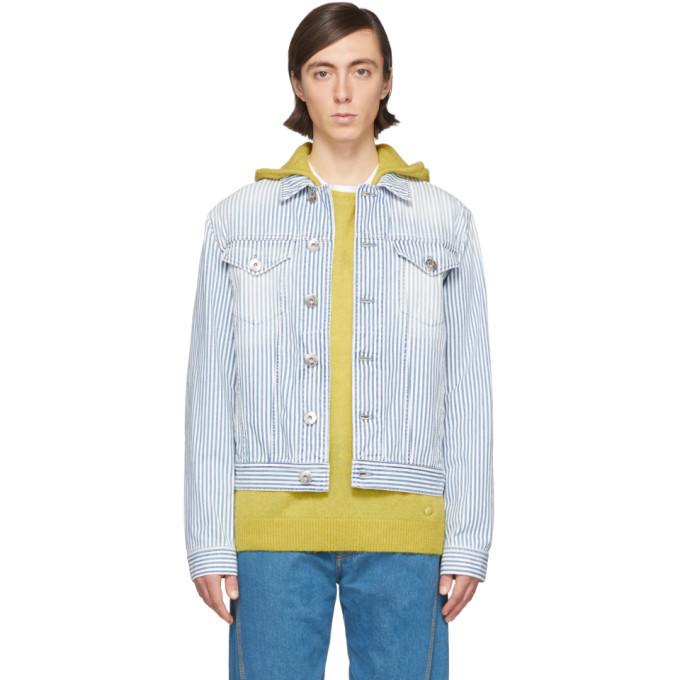 Photo: Lanvin White and Blue Striped Denim Jacket