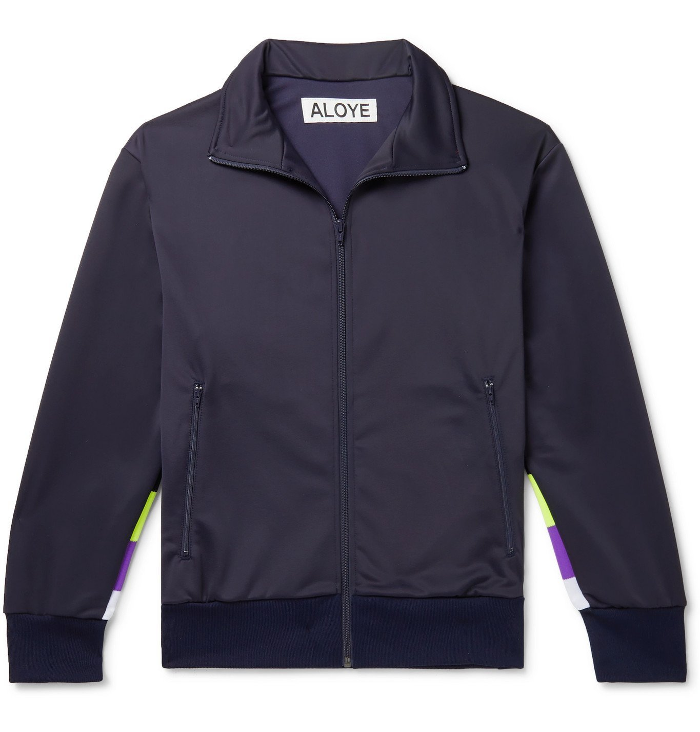 Photo: Aloye - Panelled Tech-Jersey Track Jacket - Blue