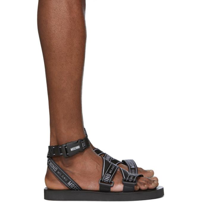 Photo: Moschino Black Gladiator Sandals