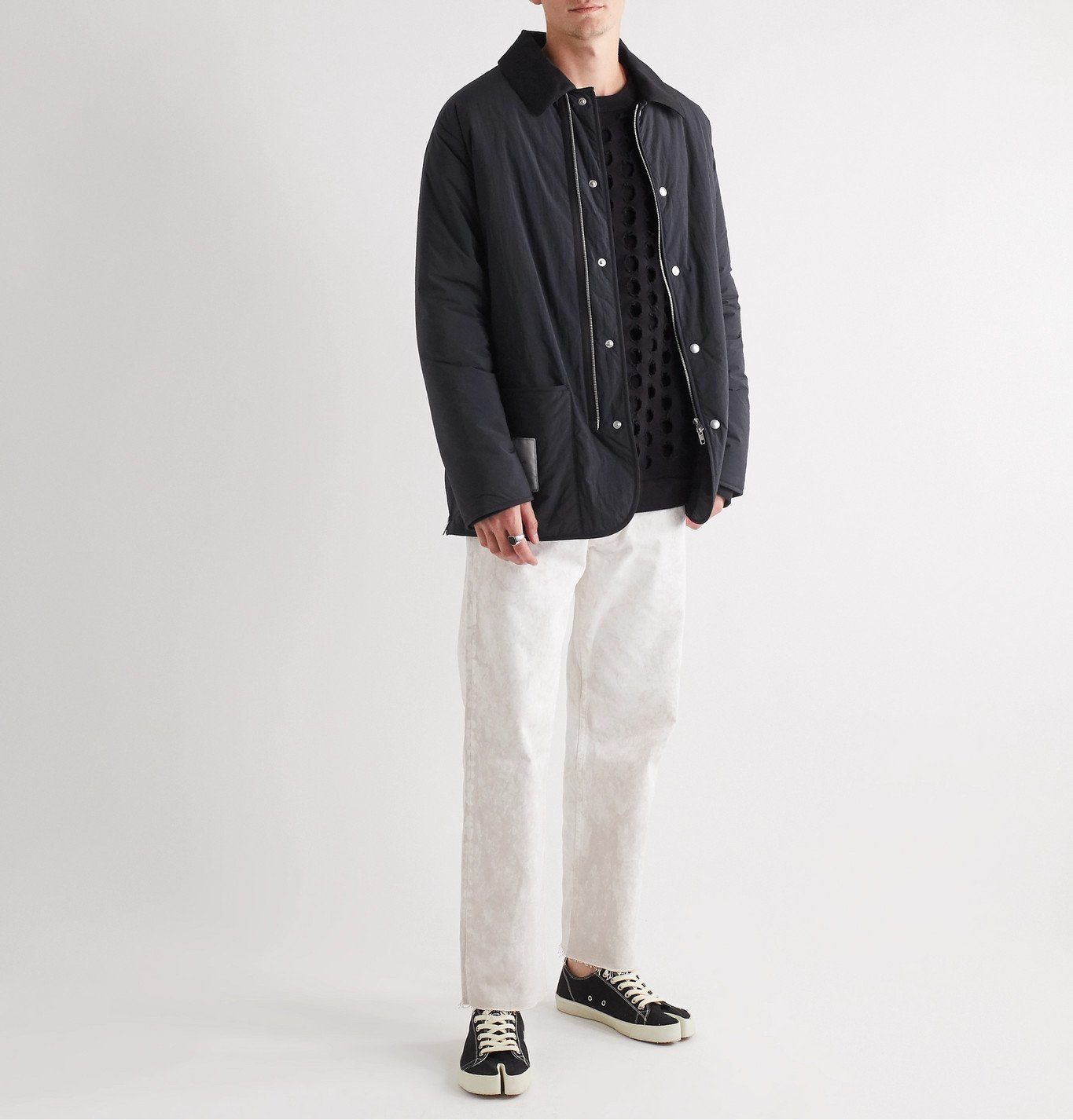 Maison Margiela - Cotton-Blend Twill-Trimmed Shell Jacket - Black