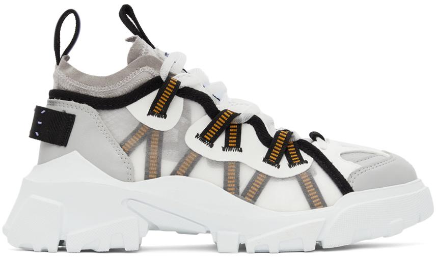 Photo: MCQ White & Grey Orbyt Descender Sneaker