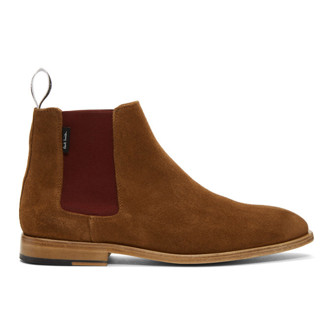 Photo: PS by Paul Smith Tan Suede Gerald Chelsea Boots