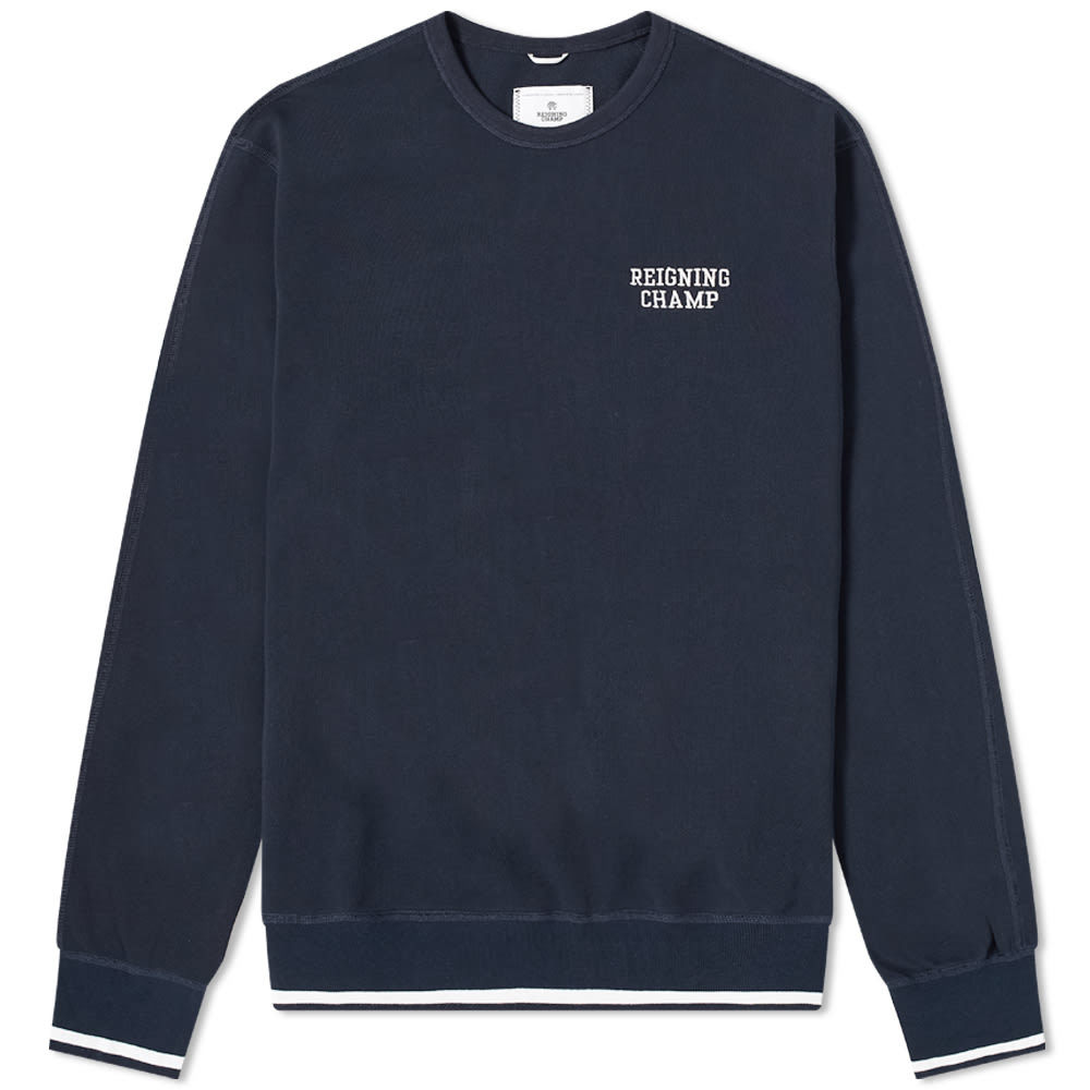 Photo: Reigning Champ Embroidered Crew Sweat