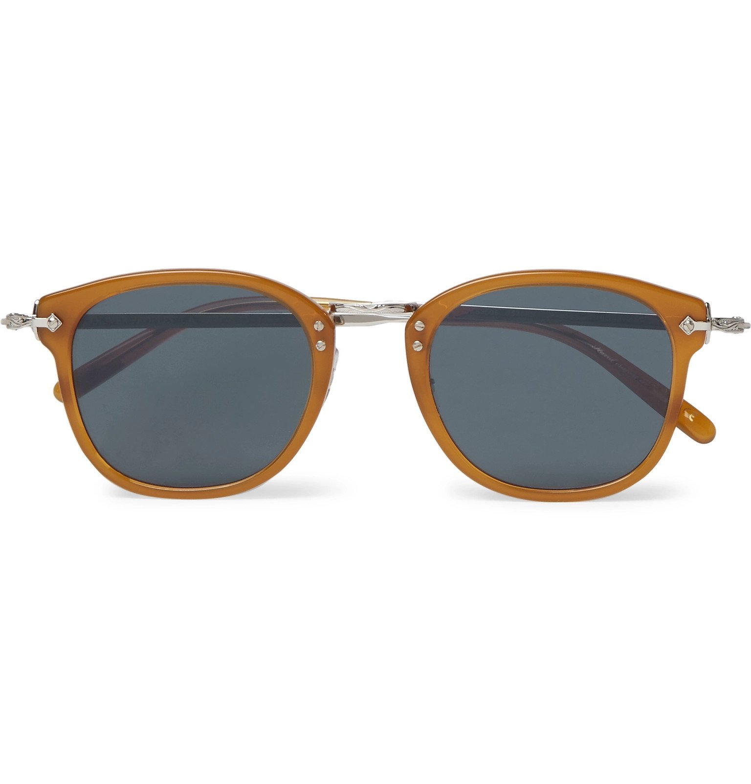 Oliver Peoples - OP-506 D-Frame Acetate and Silver-Tone Sunglasses - Yellow