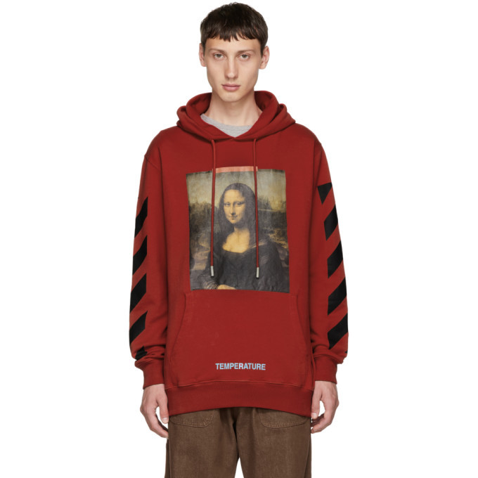 Photo: Off-White SSENSE Exclusive Red Monalisa Hoodie