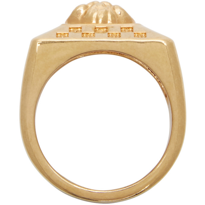 Versace Gold Medusa Square Ring