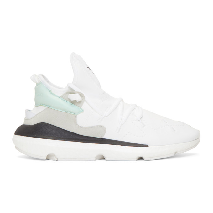 Photo: Y-3 White Kusari II Sneakers