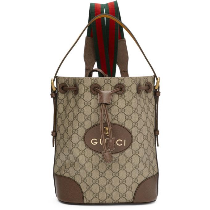 Photo: Gucci Beige GG Supreme Backpack