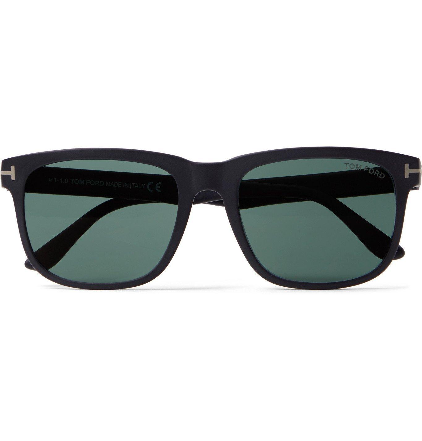 Photo: TOM FORD - Square-Frame Matte-Acetate Sunglasses - Black
