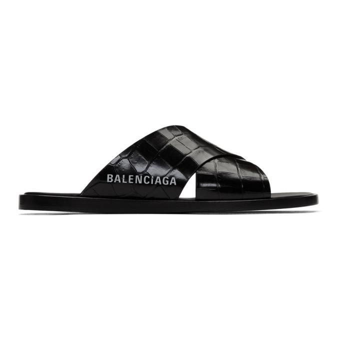 Photo: Balenciaga Black Cosy Croc Sandals
