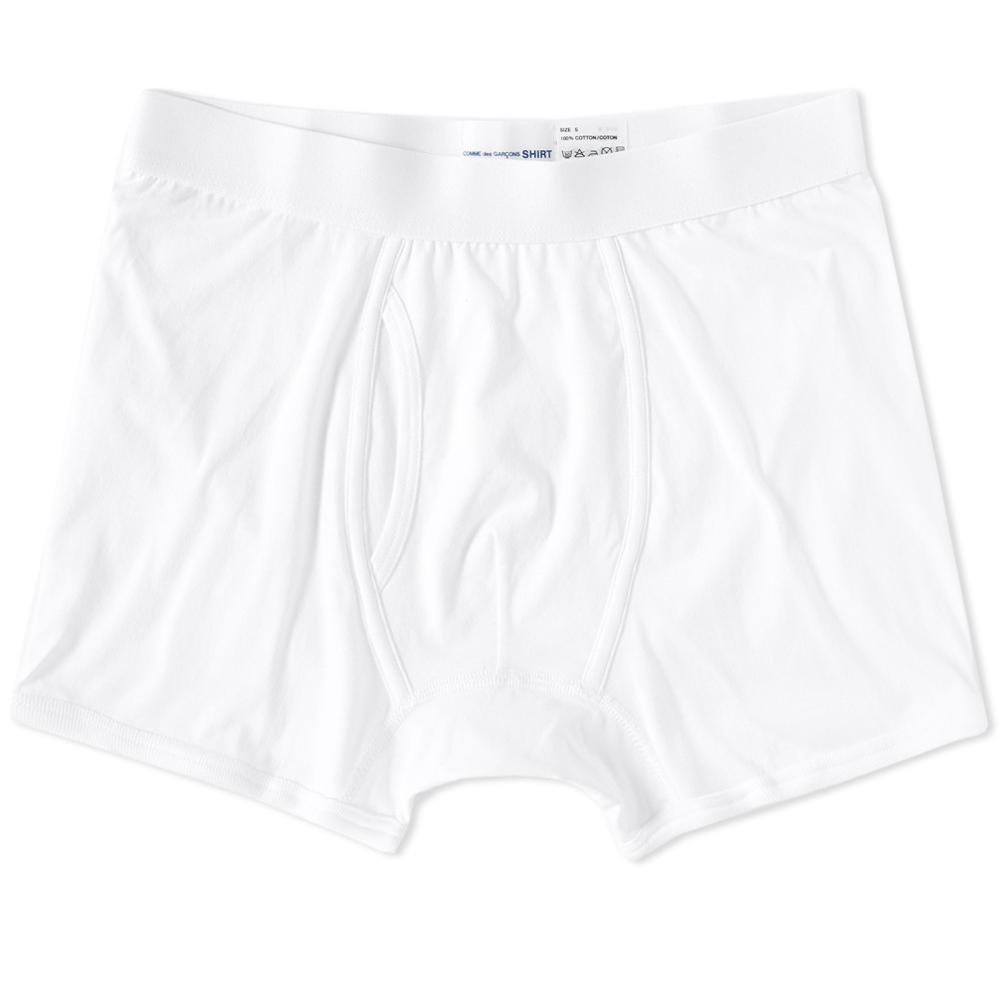 Photo: Comme des Garcons SHIRT x Sunspel Jersey Trunk White