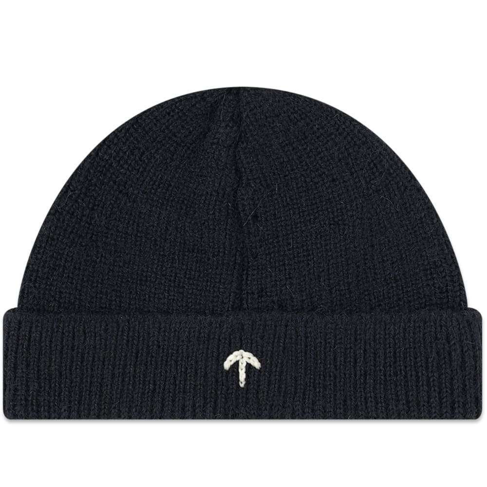 26e720e63ed Nigel Cabourn Embroidered Broad Arrow Beanie French Navy Nigel Cabourn