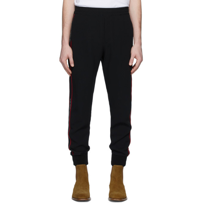 Photo: Alexander McQueen Black Crepe Lounge Pants