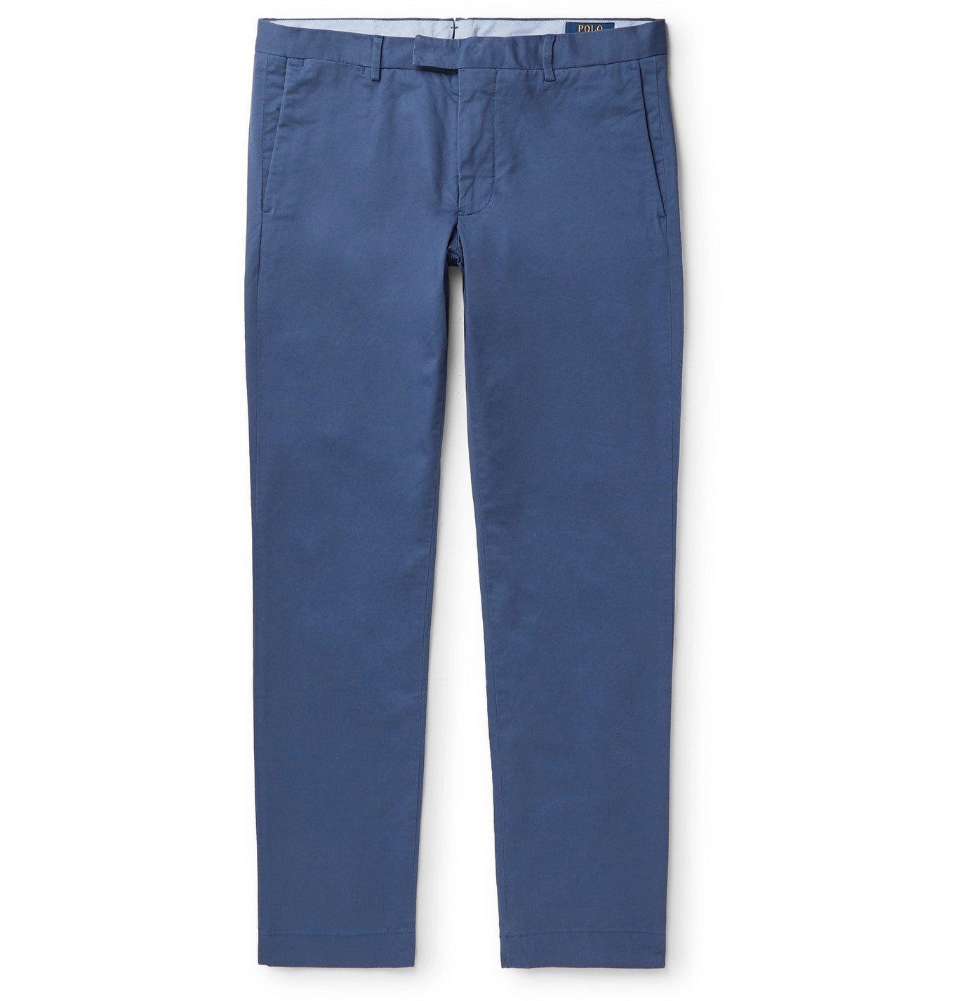 Photo: Polo Ralph Lauren - Slim-Fit Stretch-Cotton Twill Chinos - Blue