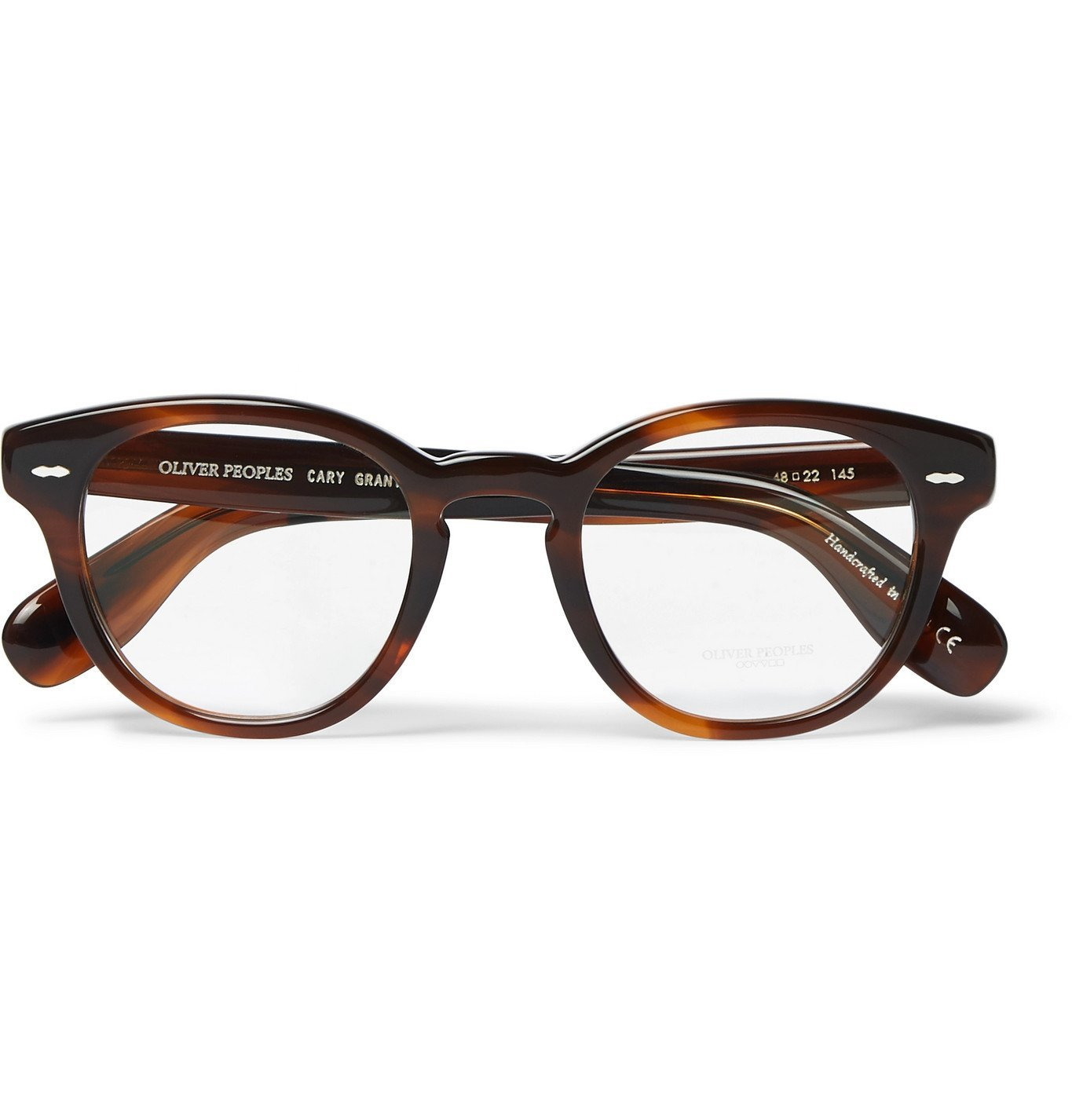 OLIVER PEOPLES - Cary Grant Round-Frame Tortoiseshell Acetate Optical Glasses - Brown