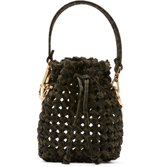 Photo: Fendi Brown and Beige Mini Braided Mon Tresor Bag