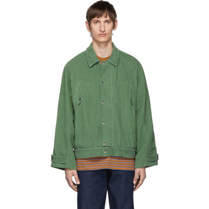 Photo: Carne Bollente Green Corduroy Forever Hung Jacket